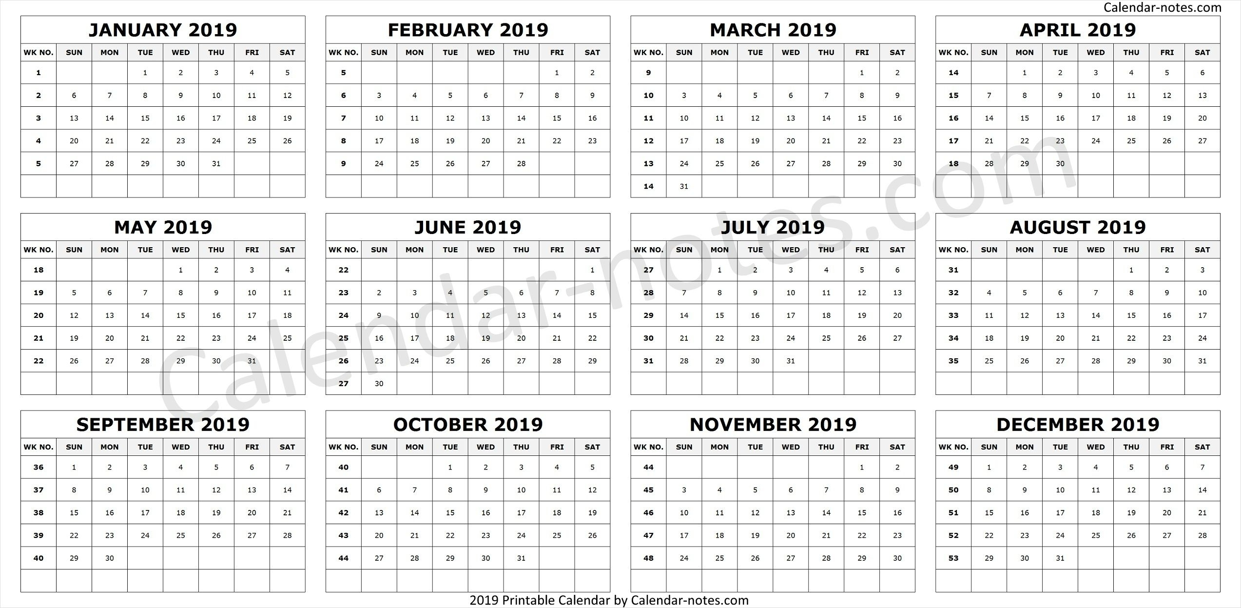 Calendar Yearly With Week Numbers with regard to Financial Calendar 2019 With Week Numbers