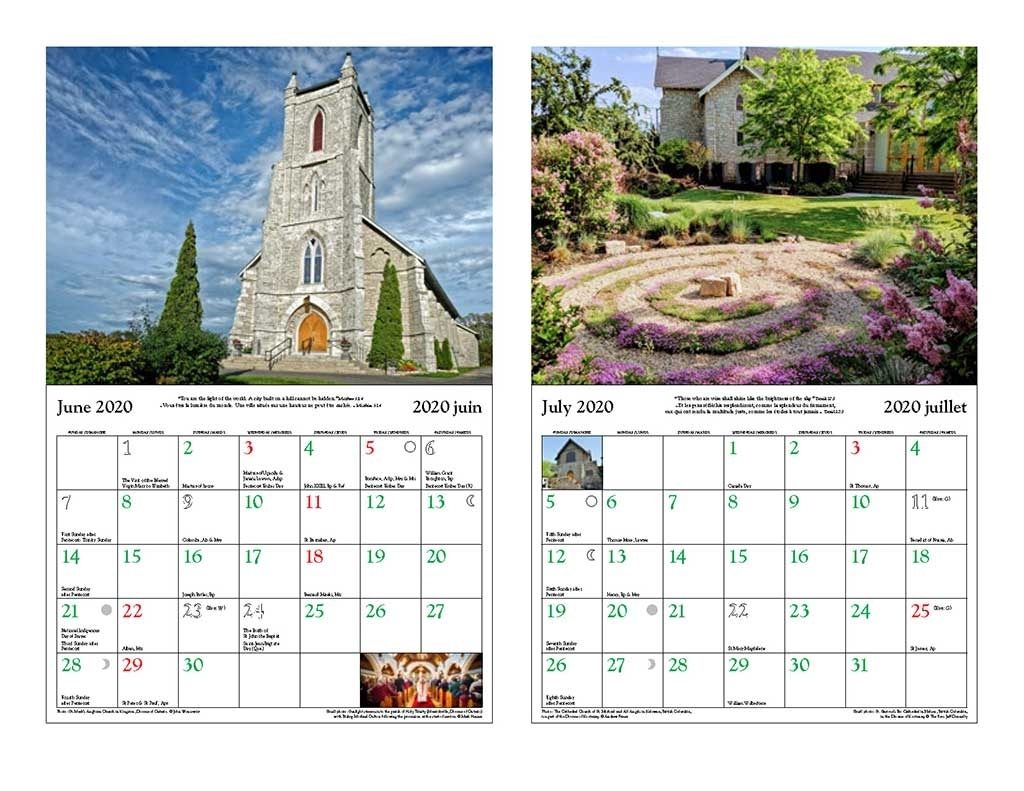 Canadian Church Calendar 2020 - The Anglican Church Of Canada in Free Liturgical Church Calendar For 2020