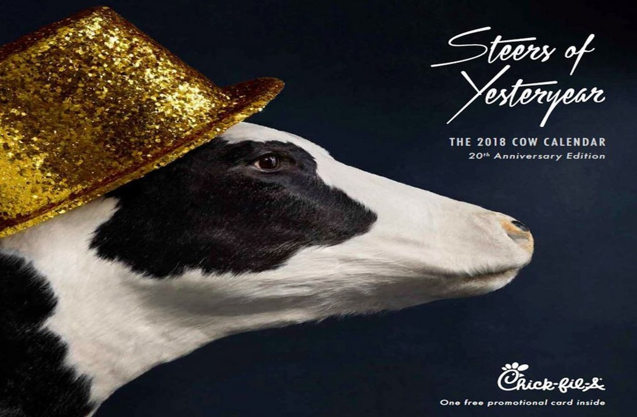 Chick-Fil-A Kills The Cow Calendar And People Aren't Happy intended for Cow Calendar Chick Fil A