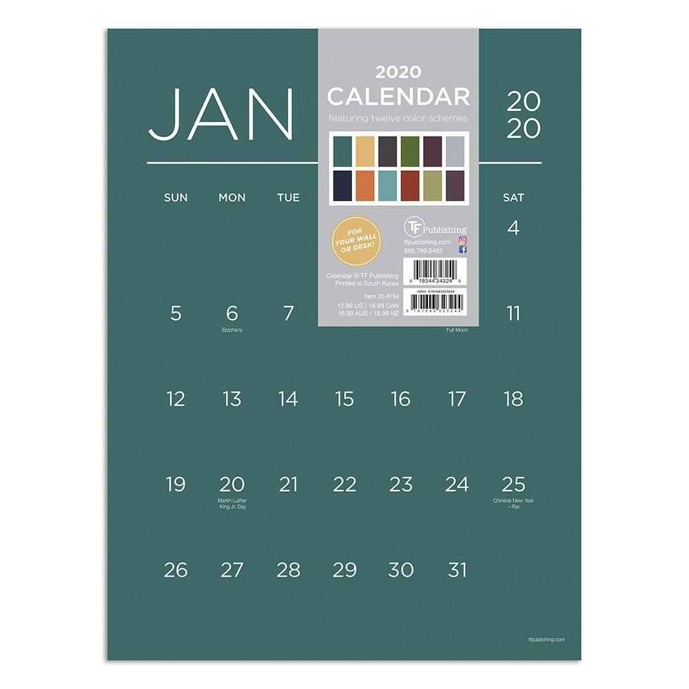 Color Collection 2020 Wall Calendar with regard to Deisn Your Own Pocket Calender Choose Color