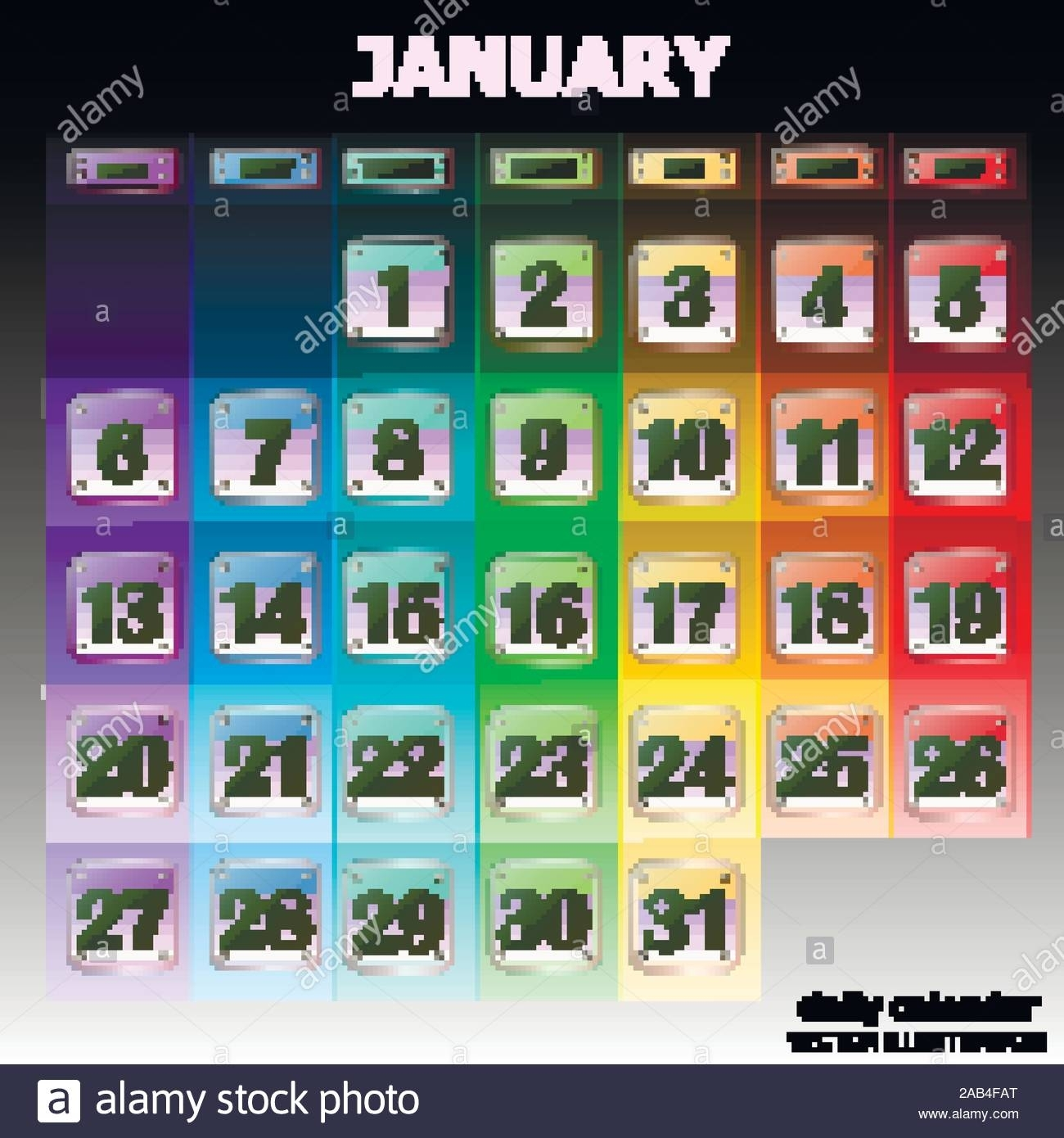 Colorful Calendar For January 2020 In English. Set Of intended for Special Days By Month In 2020