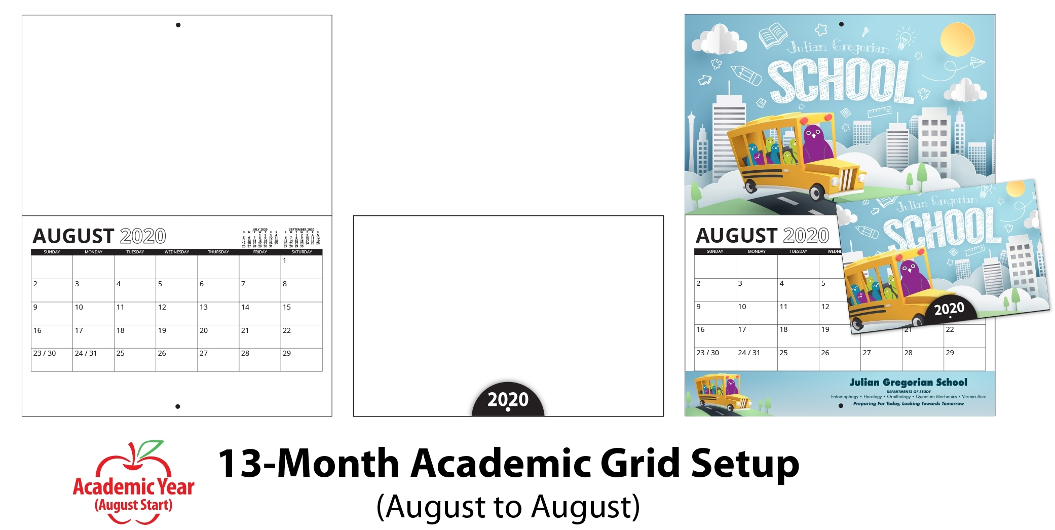 Custom Stapled Mini Wall Calendar (8.5X11, 13-Month inside Promotional One Page Year Calendars 8.5 X 11