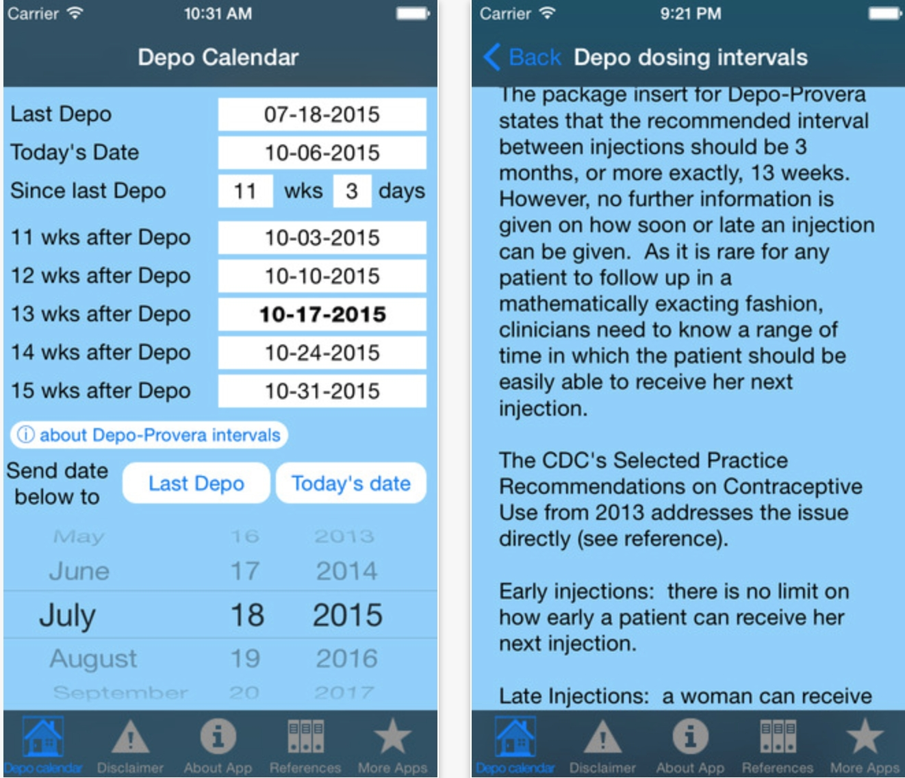 Depo Calendar App Could Significantly Improve Contraception pertaining to Depo Injection Schedule For A Whole Year