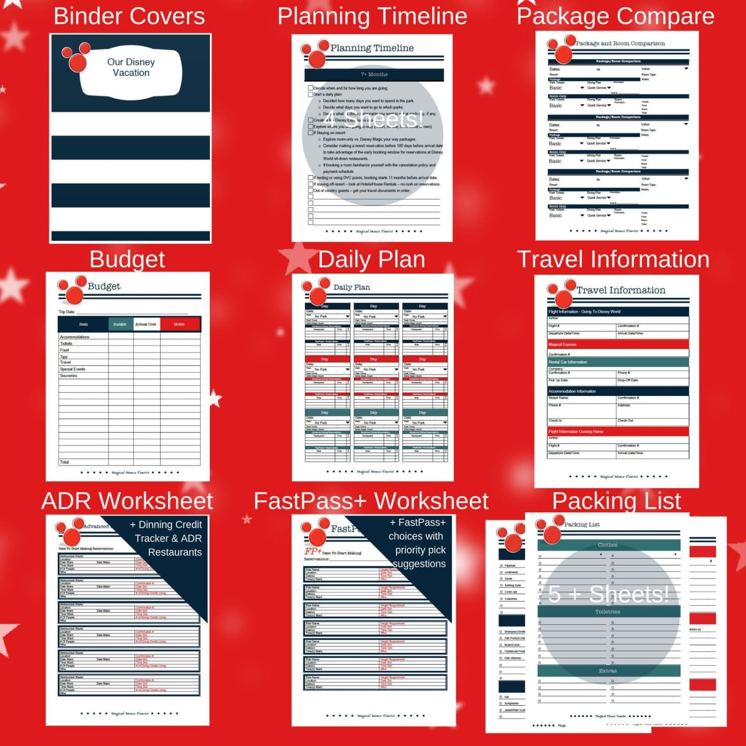 Disney Vacation Spreadsheet Planner Etsy Download inside Disney World Itinerary Template Download 2020