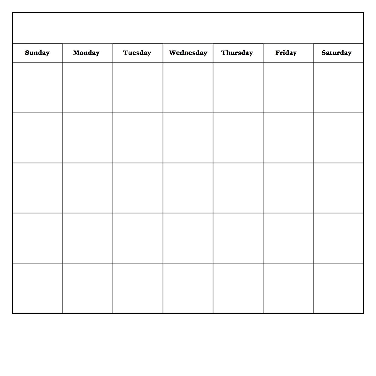 Diy Dry Erase Calendar | Blank Monthly Calendar Template in Blank Monthly Calendar To Print
