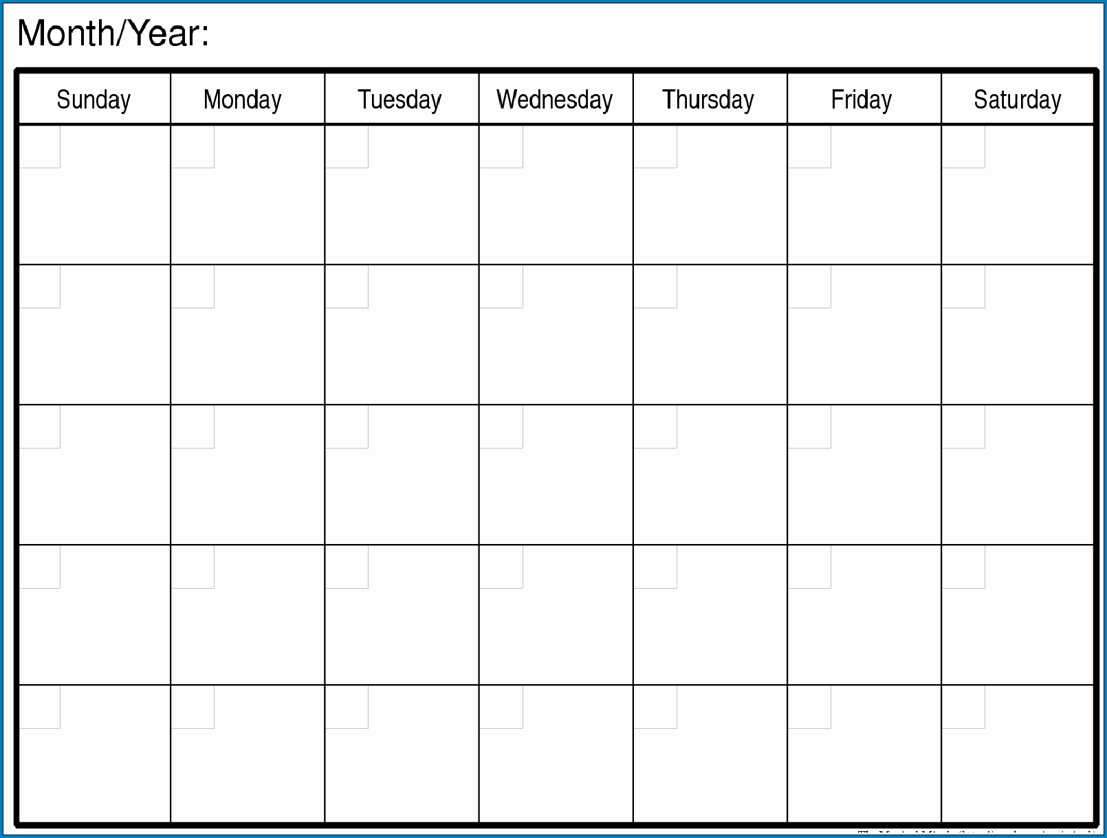 √ Free Printable Blank Monthly Calendar Template | Templateral inside Blank Monthly Calendar To Print