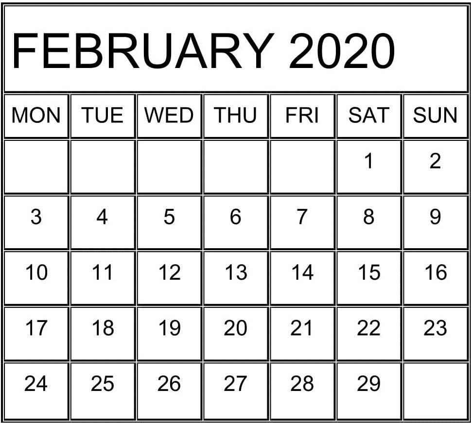 February 2020 Calendar Template For Google Sheets – Free regarding Roman Catholic Liturgical Calendar 2020 Excel Format