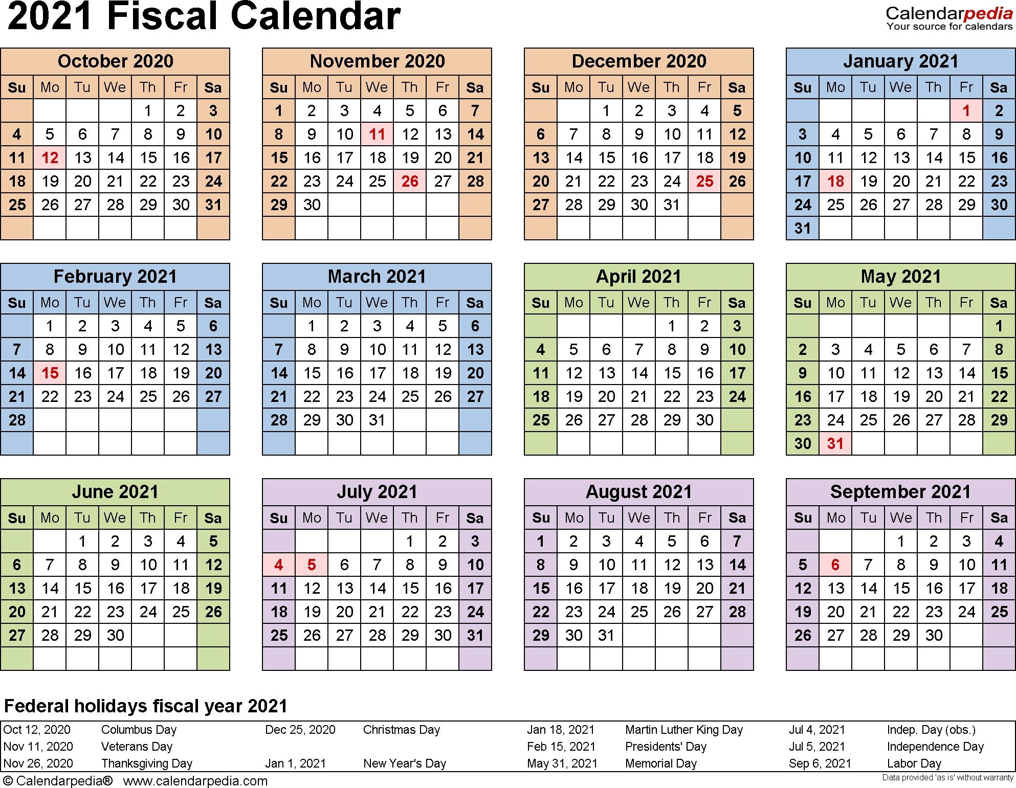 Fiscal Calendars 2021 - Free Printable Pdf Templates for 2019 Fiscal Calendar 4 4 5