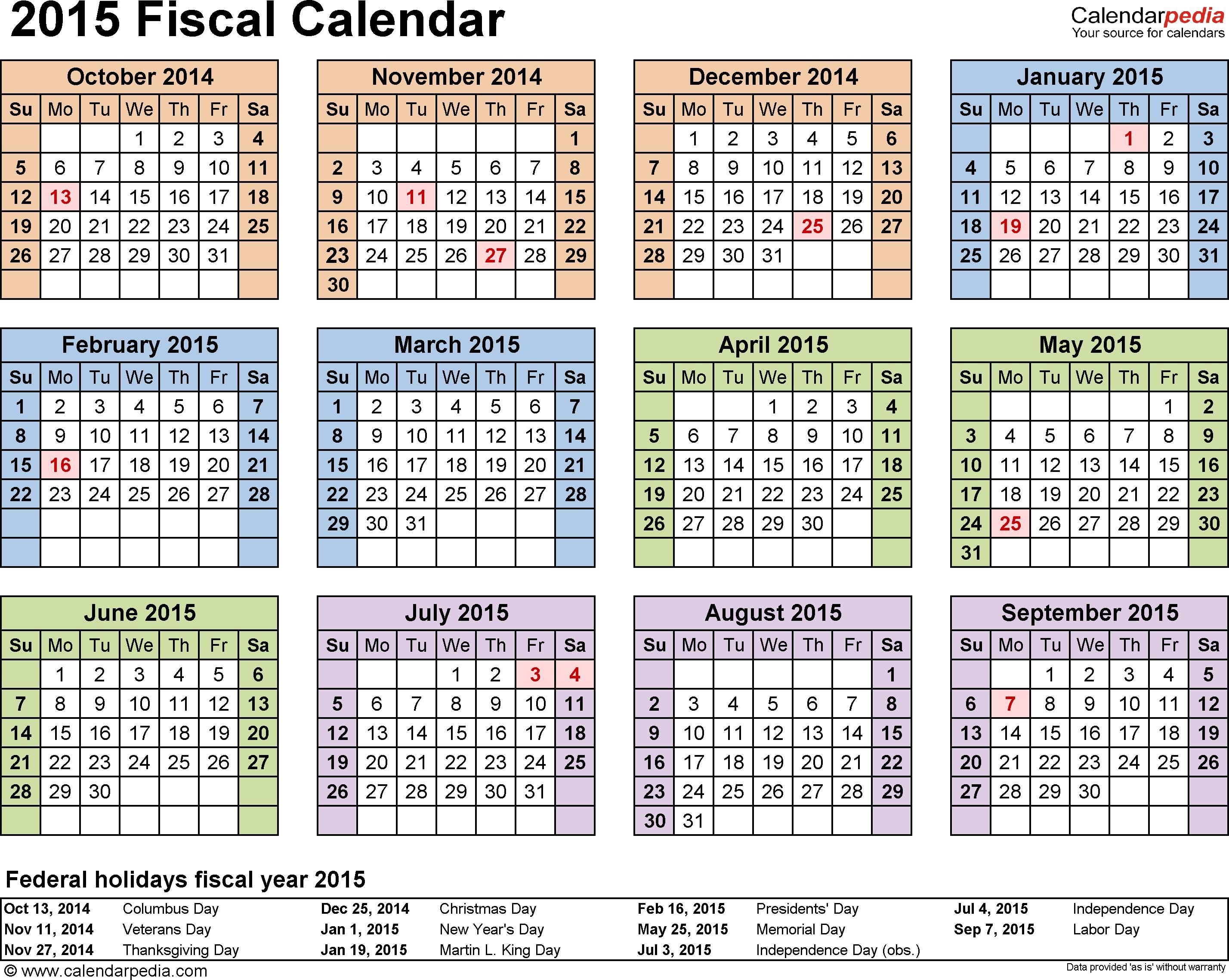 Fiscal Month Calendar 2015 - Colona.rsd7 regarding What Is 4-4-5 2020 Calendar