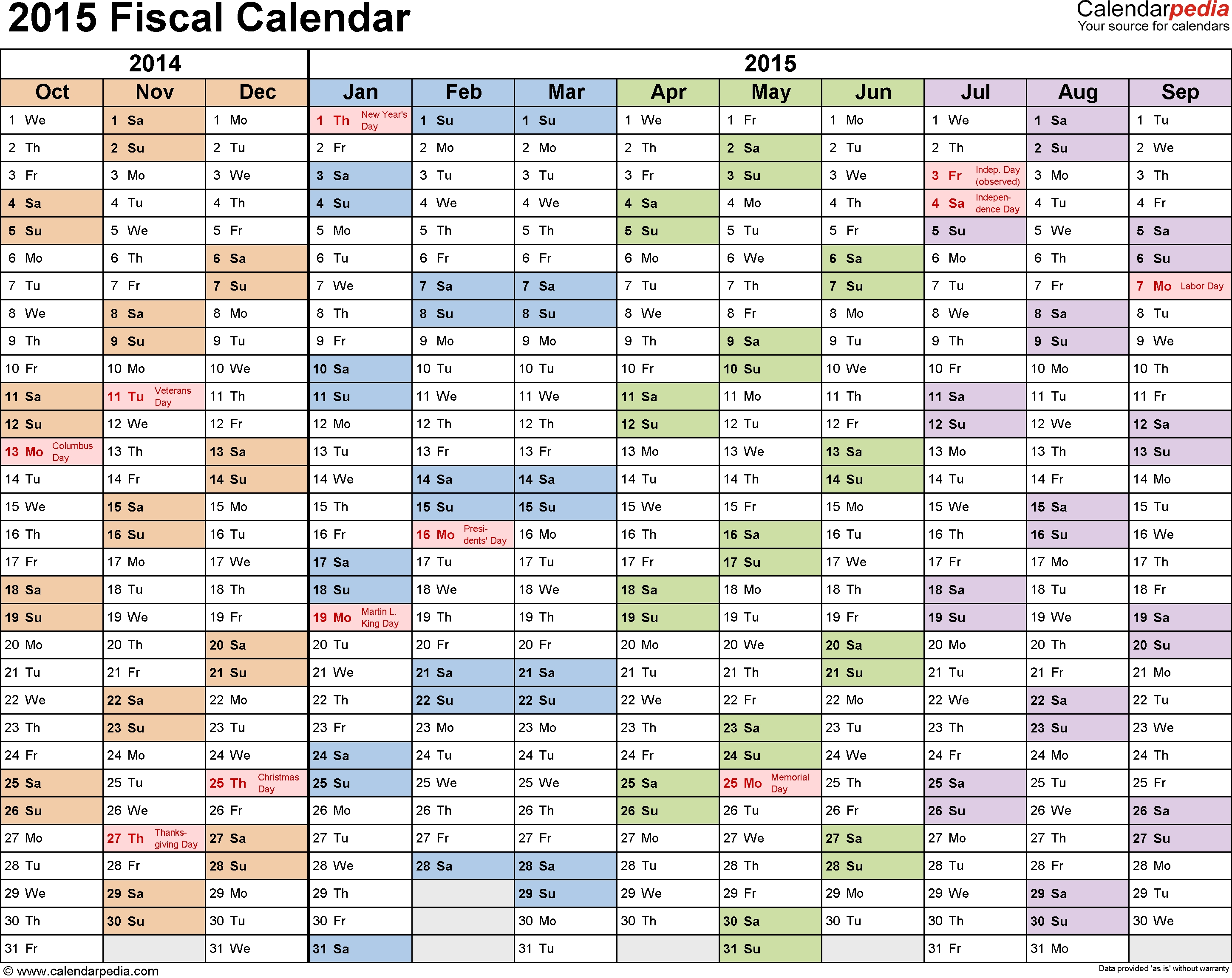Fiscal Week Calendar 2015 - Colona.rsd7 intended for Financial Year Calendar 2019/20 Week Numbers