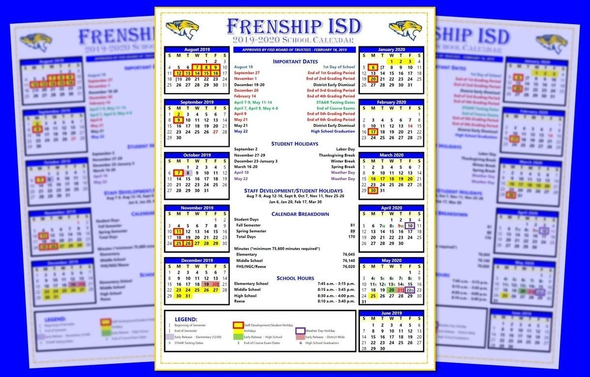 Fisd Board Approves 2019-2020 School Calendar intended for Chick A Fil Calendar 2020