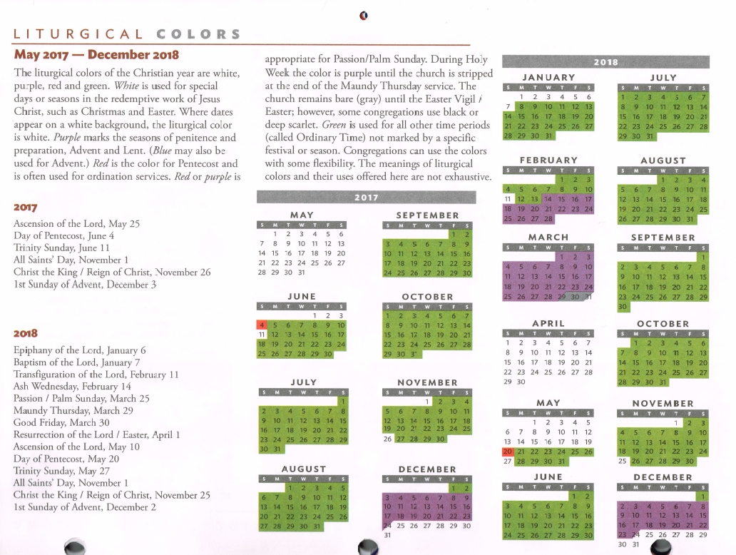 Forms And Documents - Elizabeth Presbytery in This Pc Liturgical Colours 2020