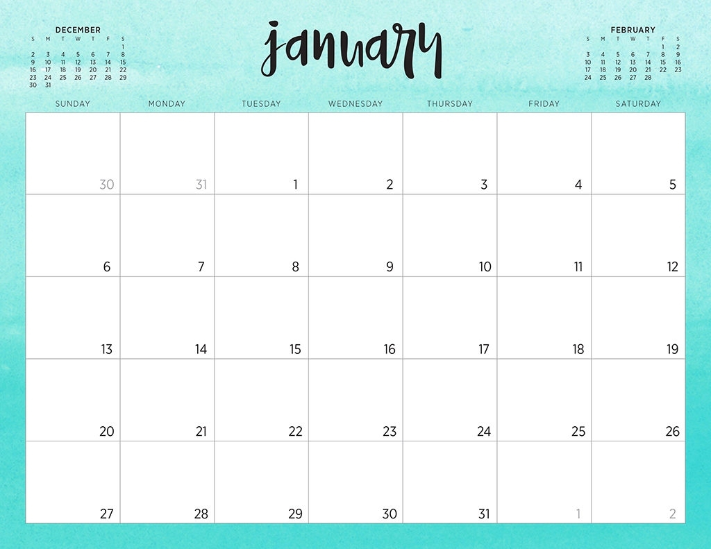 Free 2019 Printable Calendars - 46 Designs To Choose From! inside Printable Fill In Calendar 2019