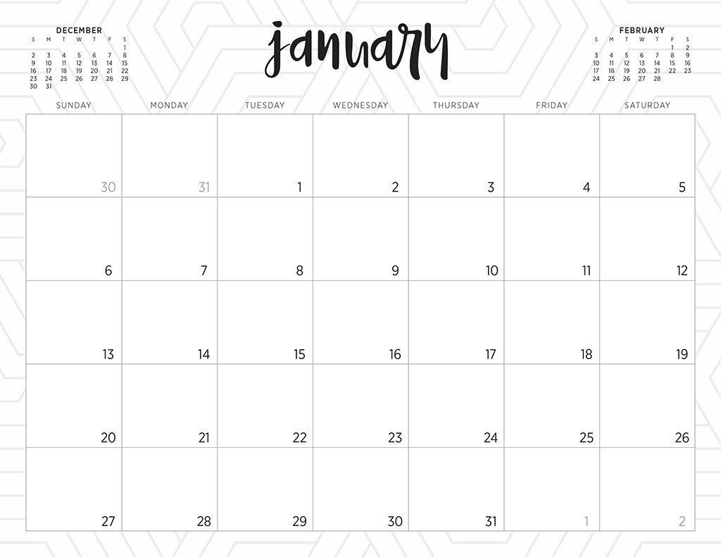 Free 2019 Printable Calendars - 46 Designs To Choose From! intended for Print Free Calendars Without Downloading