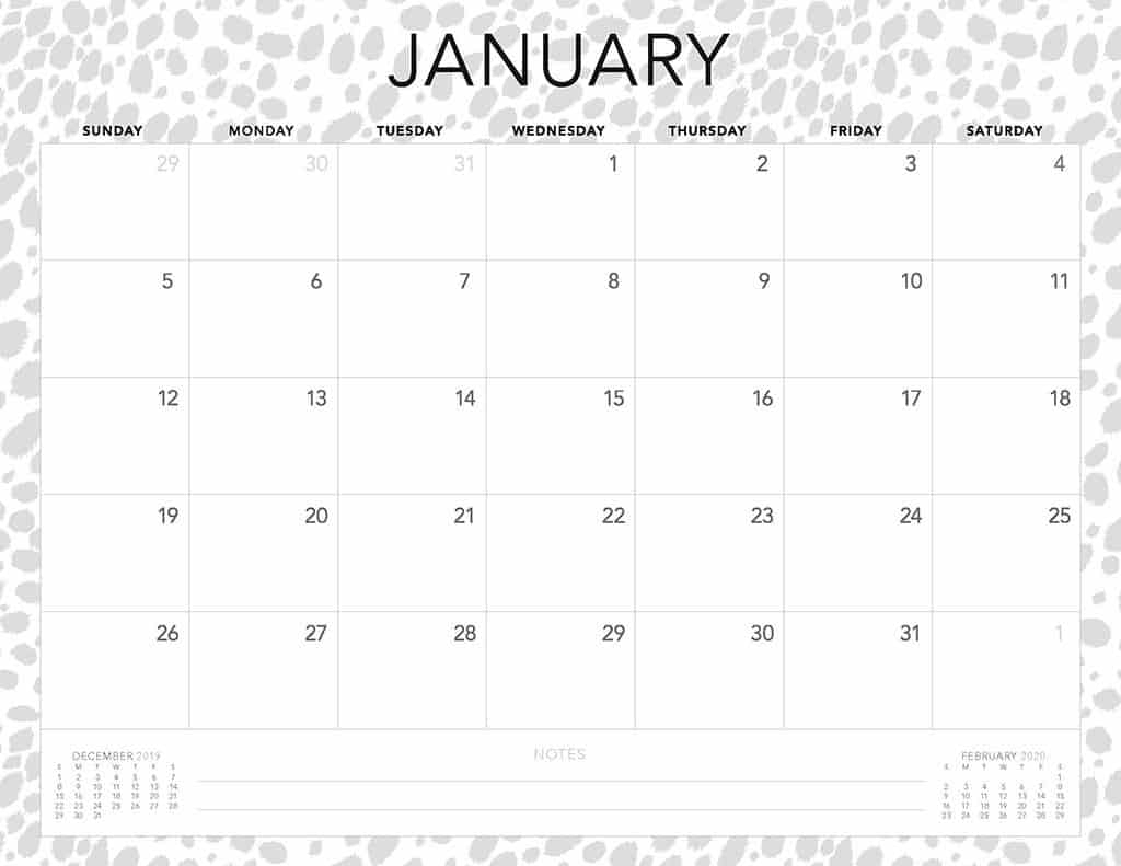 Free 2020 Printable Calendars - 51 Designs To Choose From! pertaining to Fill In Calendar 2020 Printable