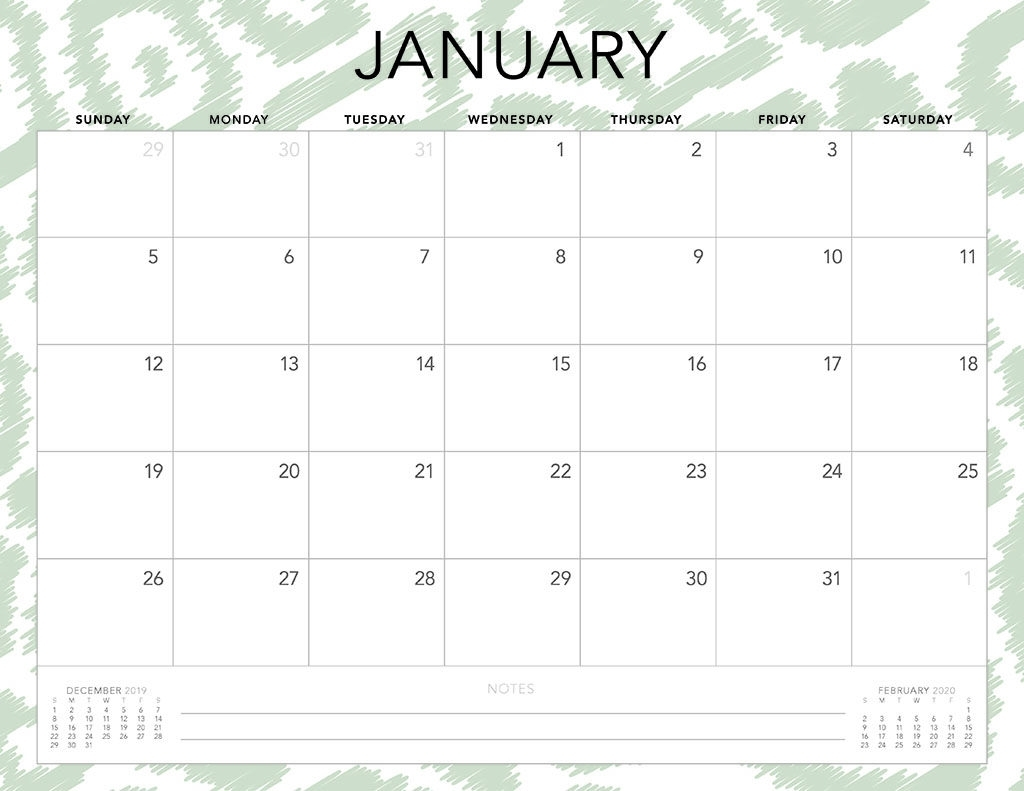 Free 2020 Printable Calendars - 51 Designs To Choose From! with Printable Calendar 2020 Monday Start