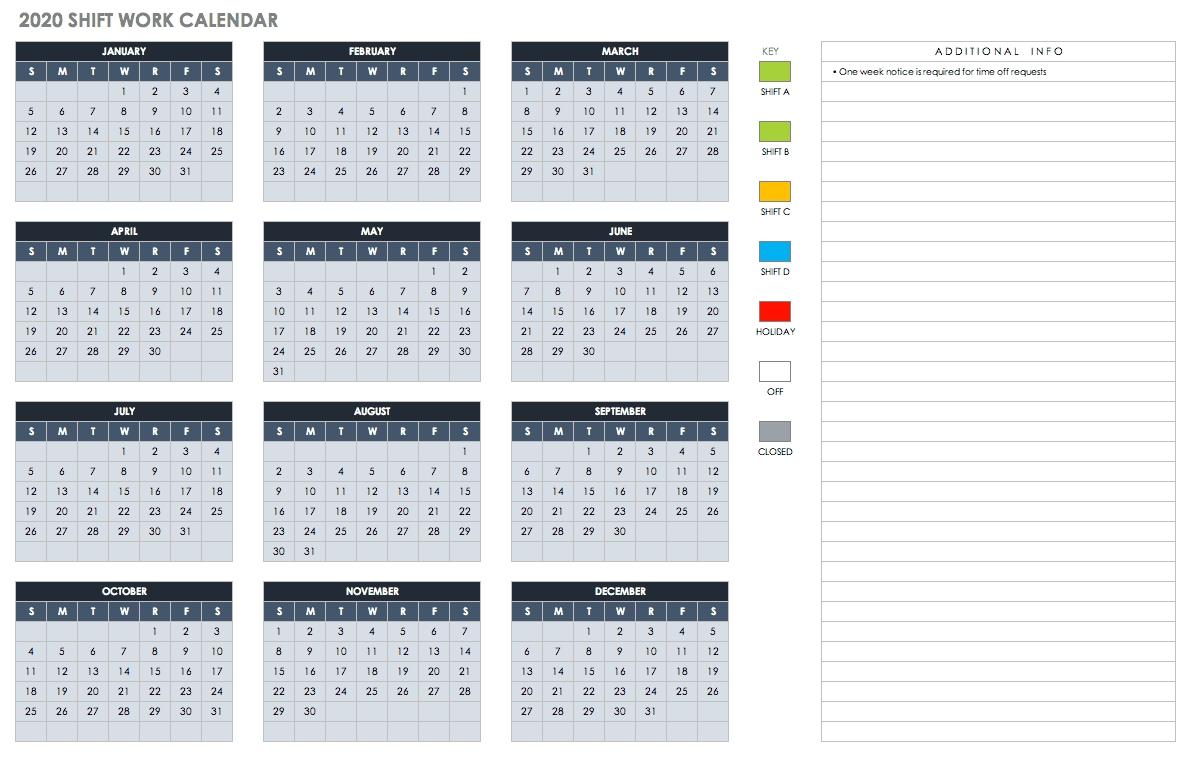 Free Blank Calendar Templates - Smartsheet in Financial Year Calendar 2019/20 Week Numbers