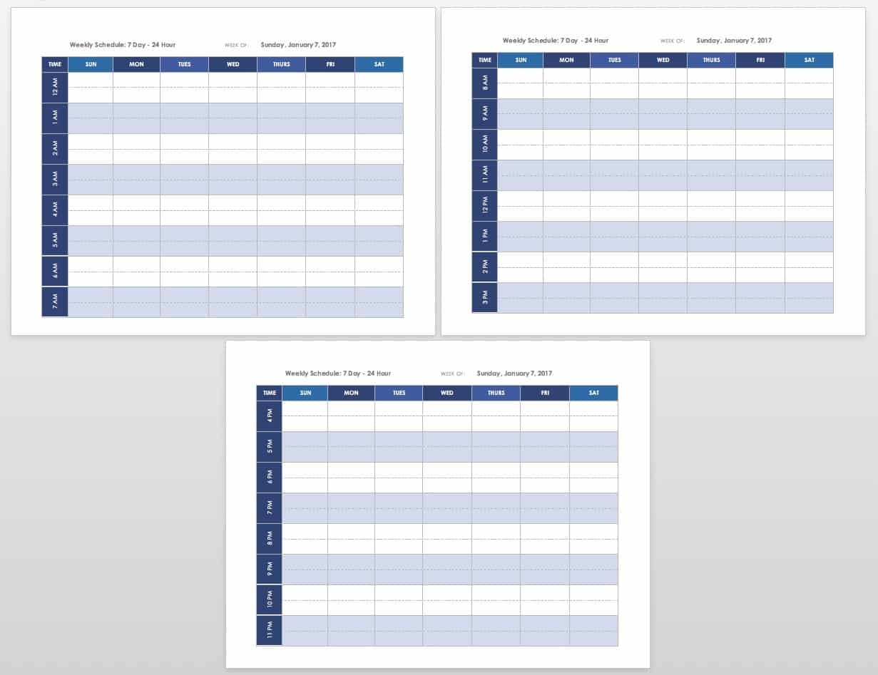 Free Blank Calendar Templates - Smartsheet throughout Weekly Am And Pm Calendar