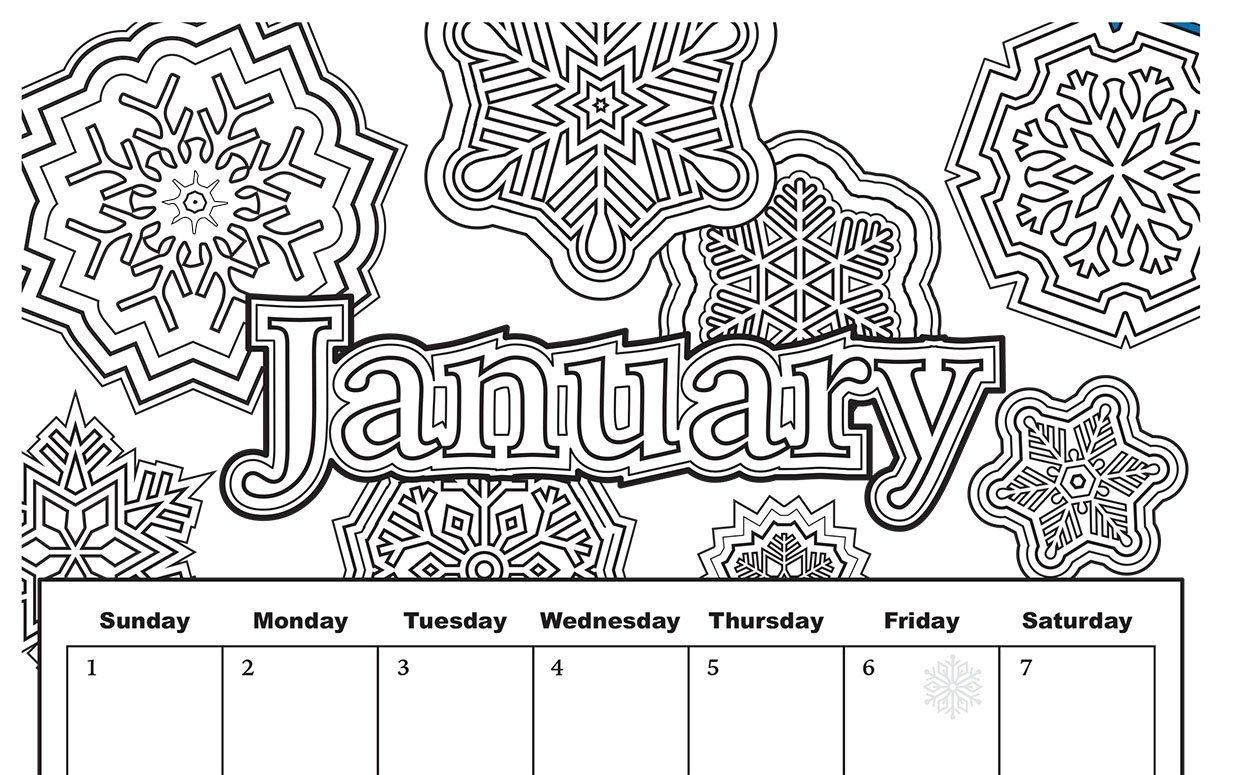Free Download: Coloring Pages From Popular Adult Coloring Books throughout Adult Coloring 2020 Calendar Printable