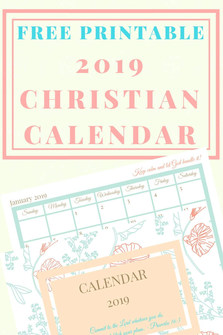 Free Printable 2020 Christian Calendar | Christian Calendar for Free Liturgical Church Calendar For 2020