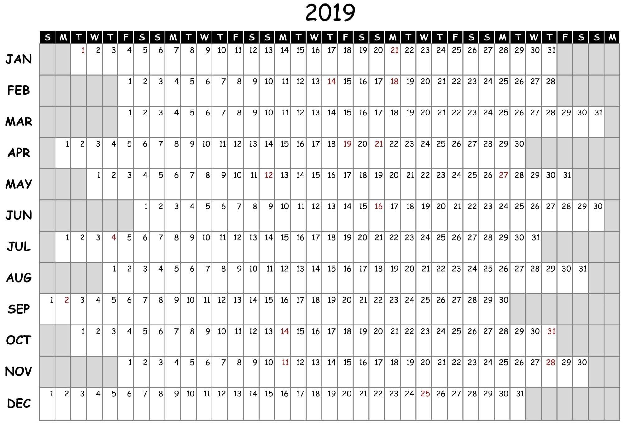 Free Printable 2020 Employee Attendance Calendar - Colona for 2020 Employee Attendance Calendar Printable