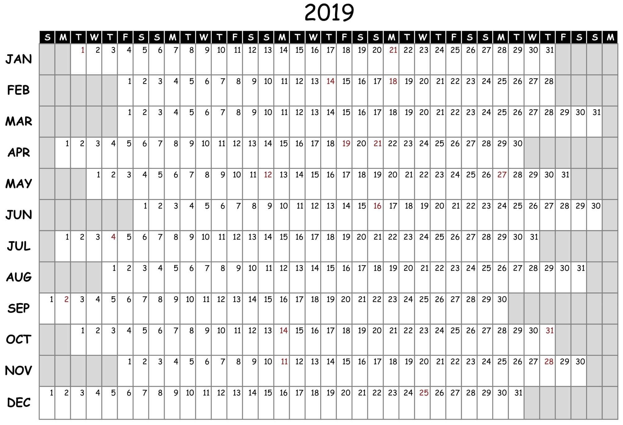 Free Printable 2020 Employee Attendance Calendar - Colona regarding Printable Employee Attendance Calendar 2020