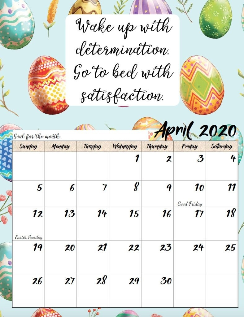 Free Printable 2020 Monthly Motivational Calendars intended for Inspirational 2020 Free Printable Calendar