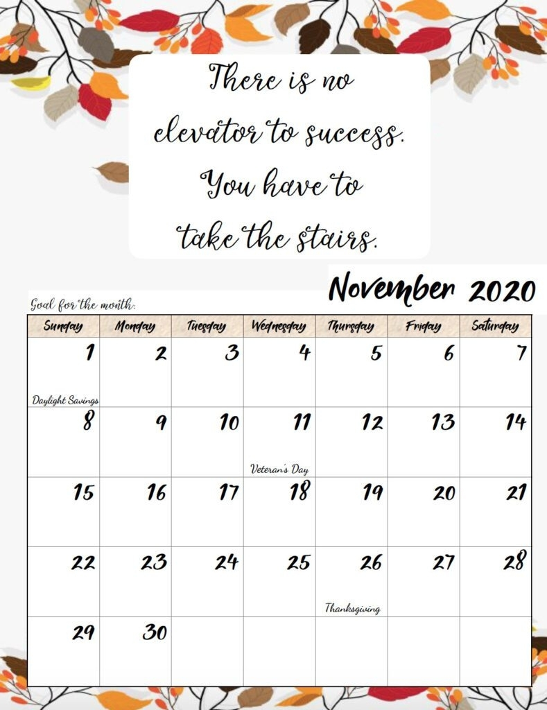 Free Printable 2020 Monthly Motivational Calendars with regard to Inspirational 2020 Free Printable Calendar