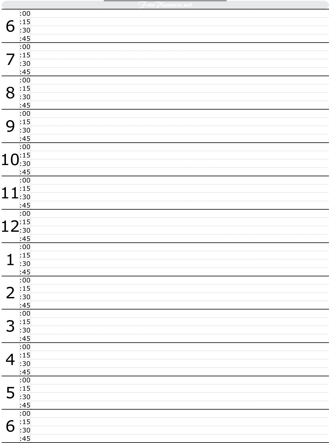 Free Printable Hourly Daily Planner | Daily Planner regarding Printable Half Hour Day Planner