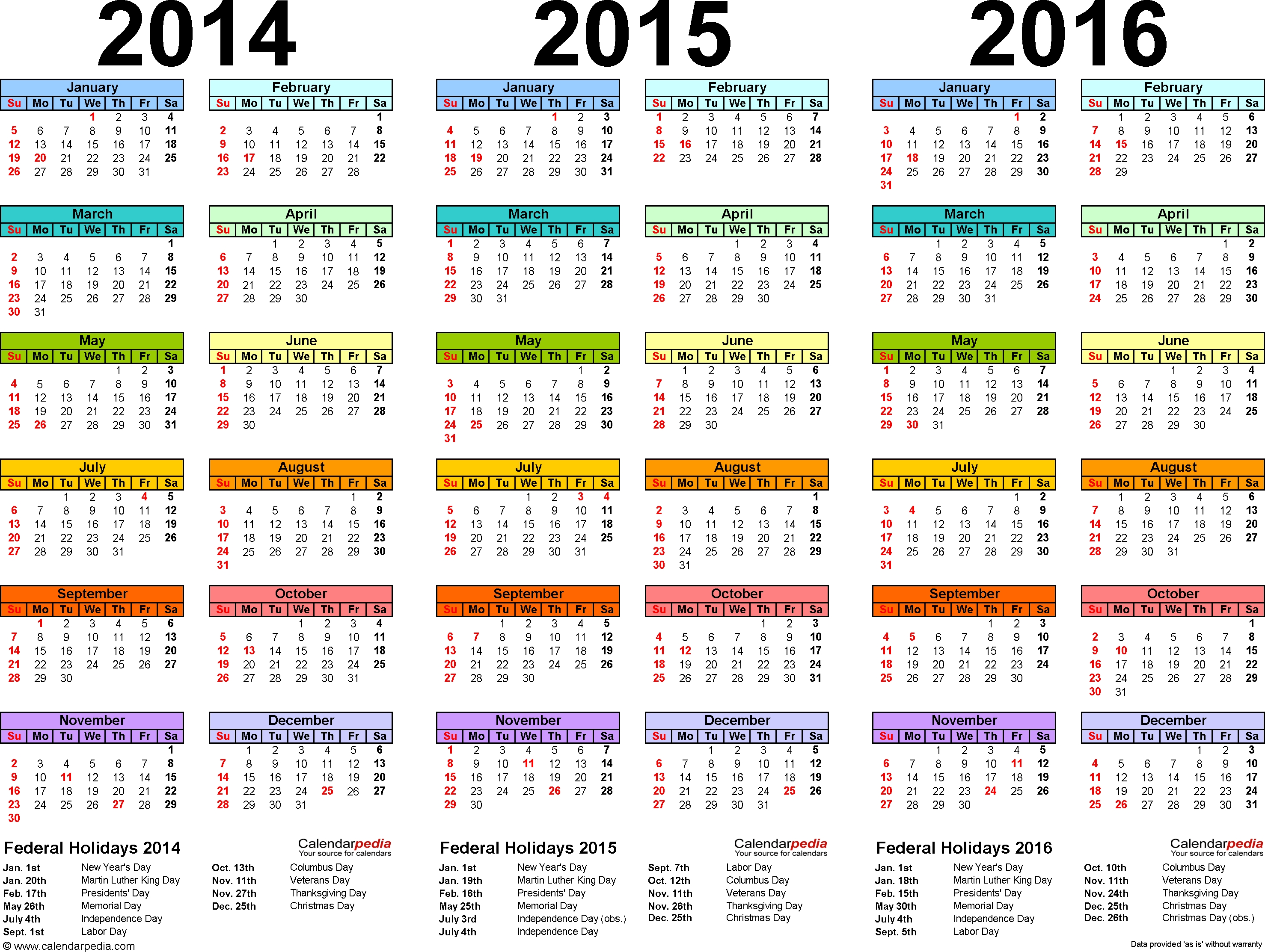 Free Printable Mini One Page Calendar 2015 - Google Search for Free Printable Perpetual Medicine Calendar