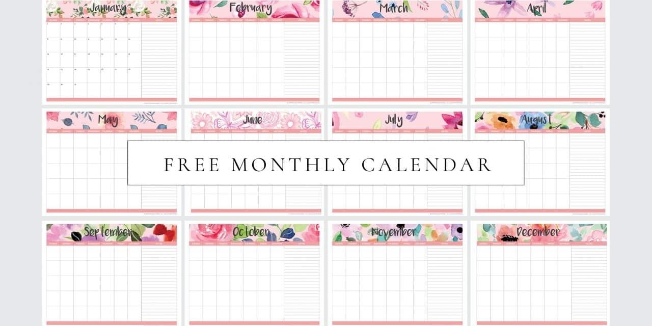 Free Printable Monthly Planner Calendar (Undated) - My for Free Printable Undated Monthly Calendar