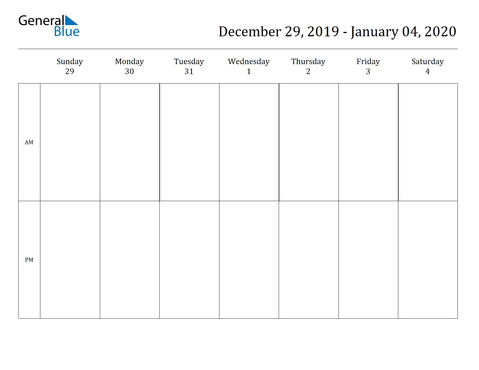 Free Printable Weekly Calendars For 2020 In Pdf Document Format within Calender For 2020 Week Wise