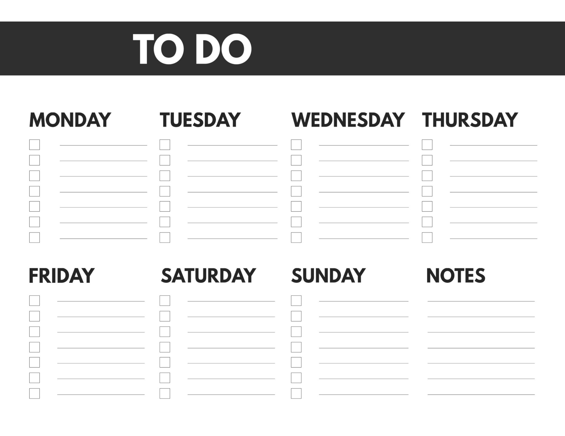 Free Printable Weekly To Do List - Paper Trail Design pertaining to Monday Through Friday Checklist Free Printable