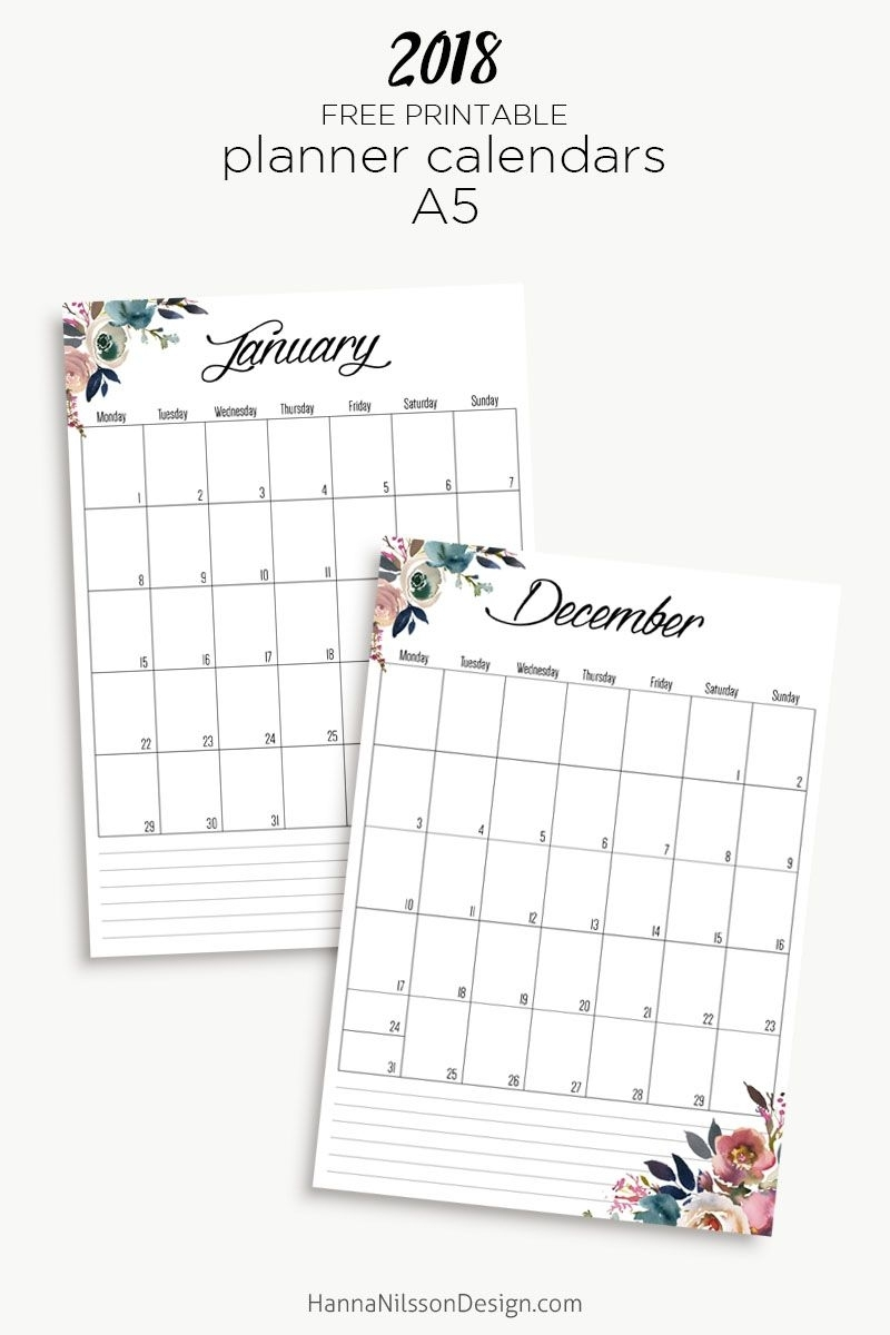 Free Yearly Calendar   2018 Calendar Printable Free in Free Foldable Pocket Size Calendar Template