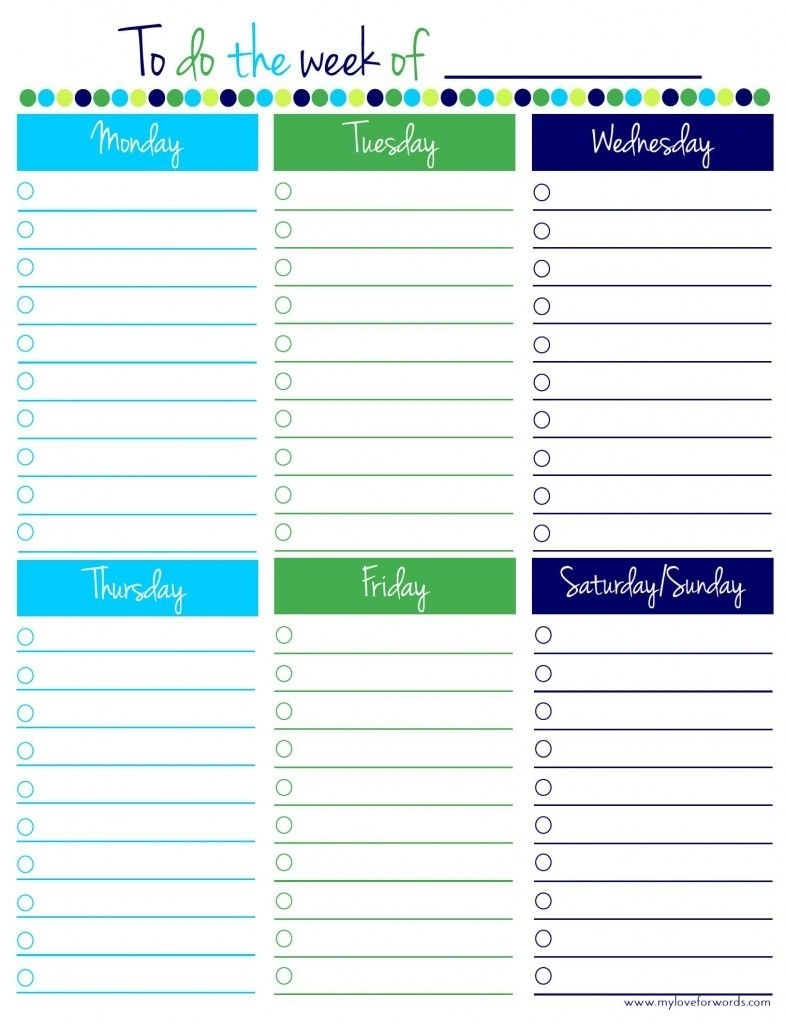 Freebie Friday: Weekly To Do List | To Do Lists Printable with regard to Monday Through Friday Checklist Free Printable