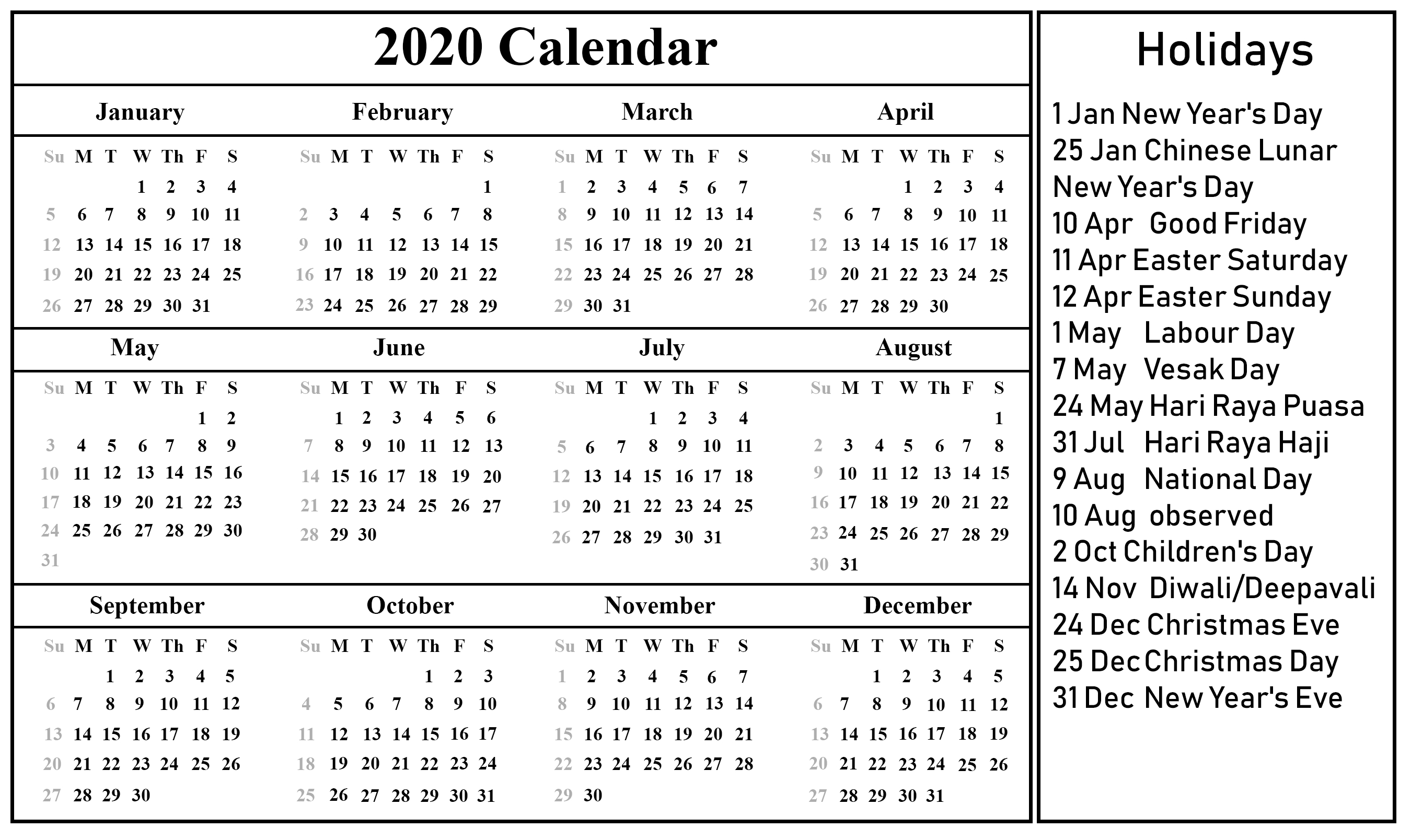 Full List Of March Holidays 2020 Calendar With Festival with regard to National Day Calendar 2020 Printable List