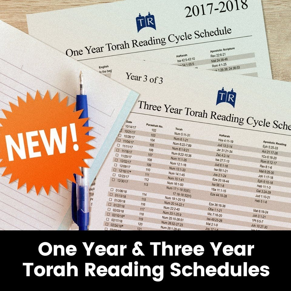 Get A Free 2017-18 Torah Reading Schedule For The 1 Or 3 intended for Printable Torah Portion Reading Schedule