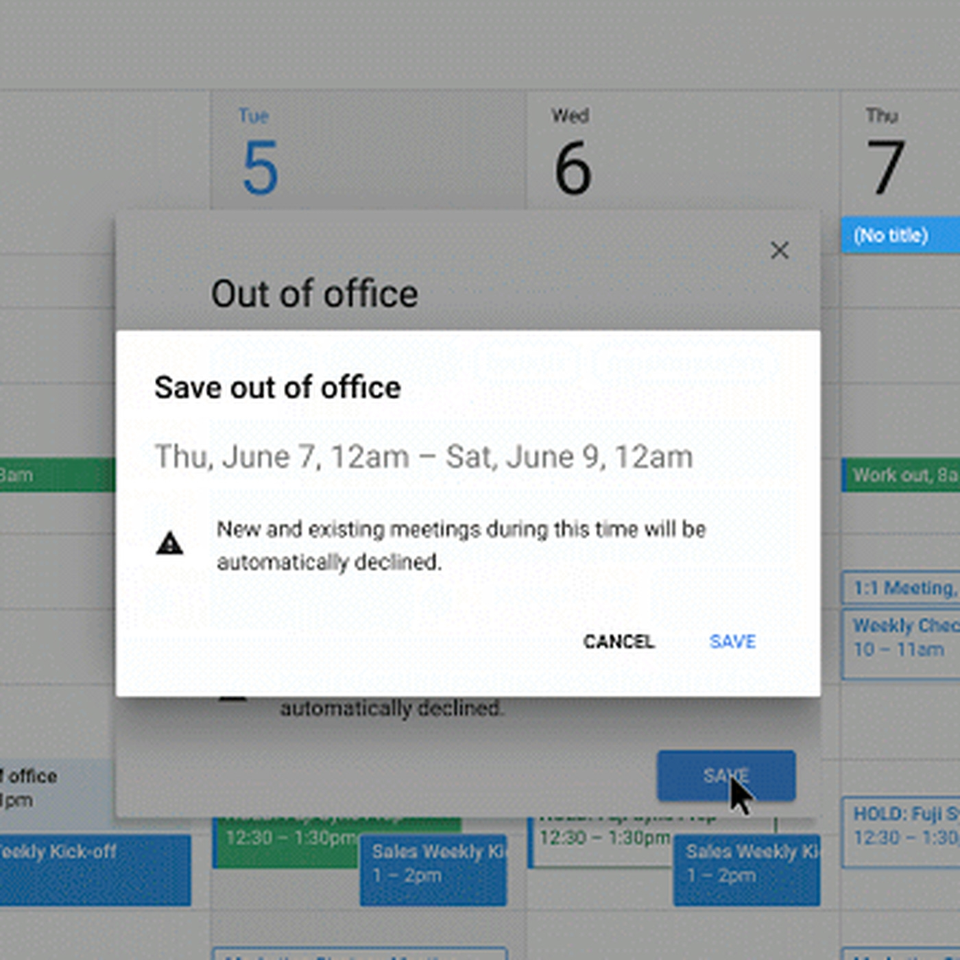 Google Calendar Now Has An 'out Of Office' Option - The Verge within Deisn Your Own Pocket Calender Choose Color