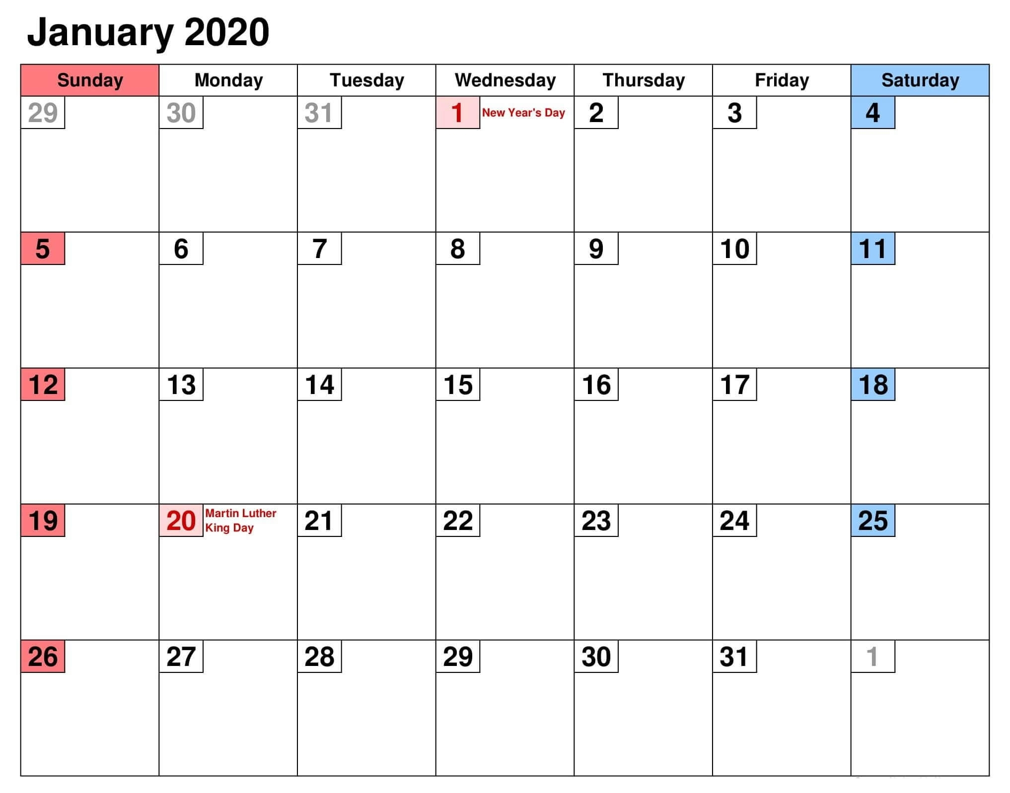January 2020 Calendar Canada Bank Holidays | Free Printable inside Free Printable 2020 Canadian Calendar Motivational