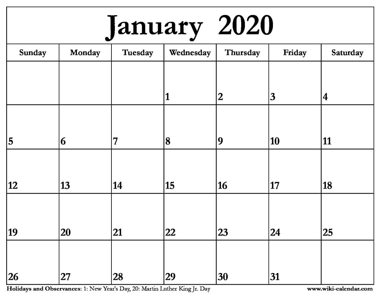 January 2020 Calendar Clipart throughout Free Weekly Catholic Calendar 2020