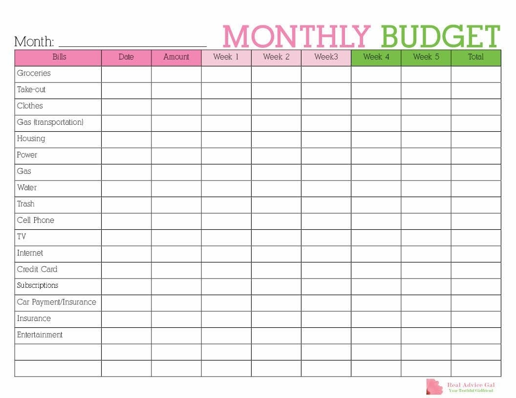 Keep Track Of Your Monthly Expenditures With This Free intended for Bill Organizer Free Print Month Year