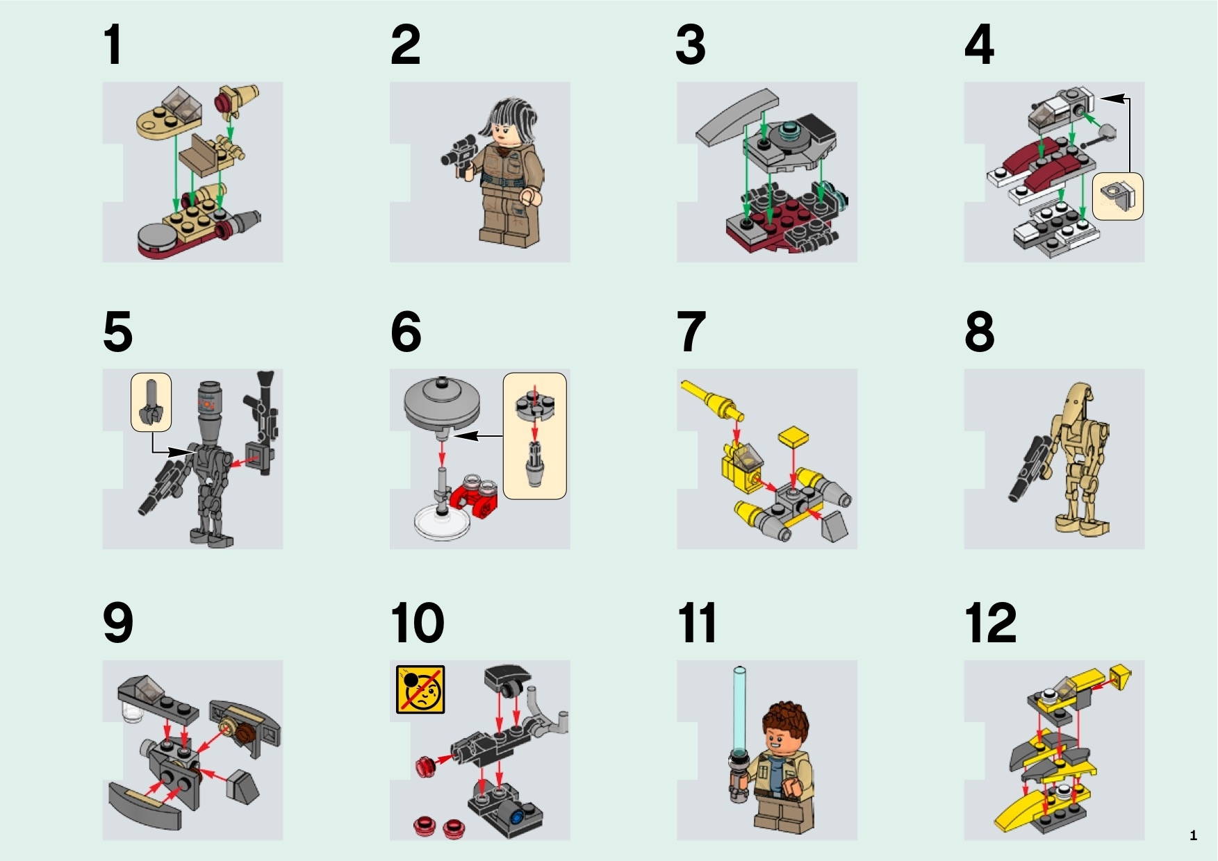 Lego 75213 Star Wars Advent Calendar Instructions, Star Wars in Lego Star Wars 2018 Advent Calendar Instructions