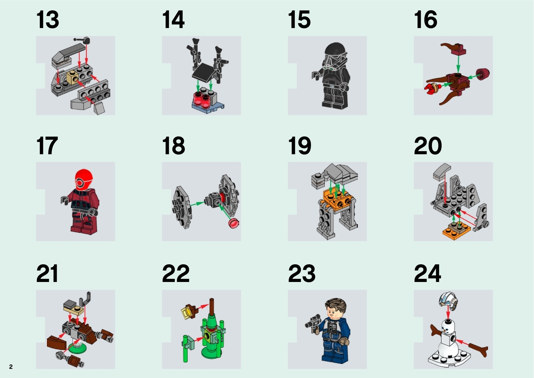 Lego 75213 Star Wars Advent Calendar Instructions, Star Wars inside Lego Star Wars 2018 Advent Calendar Instructions
