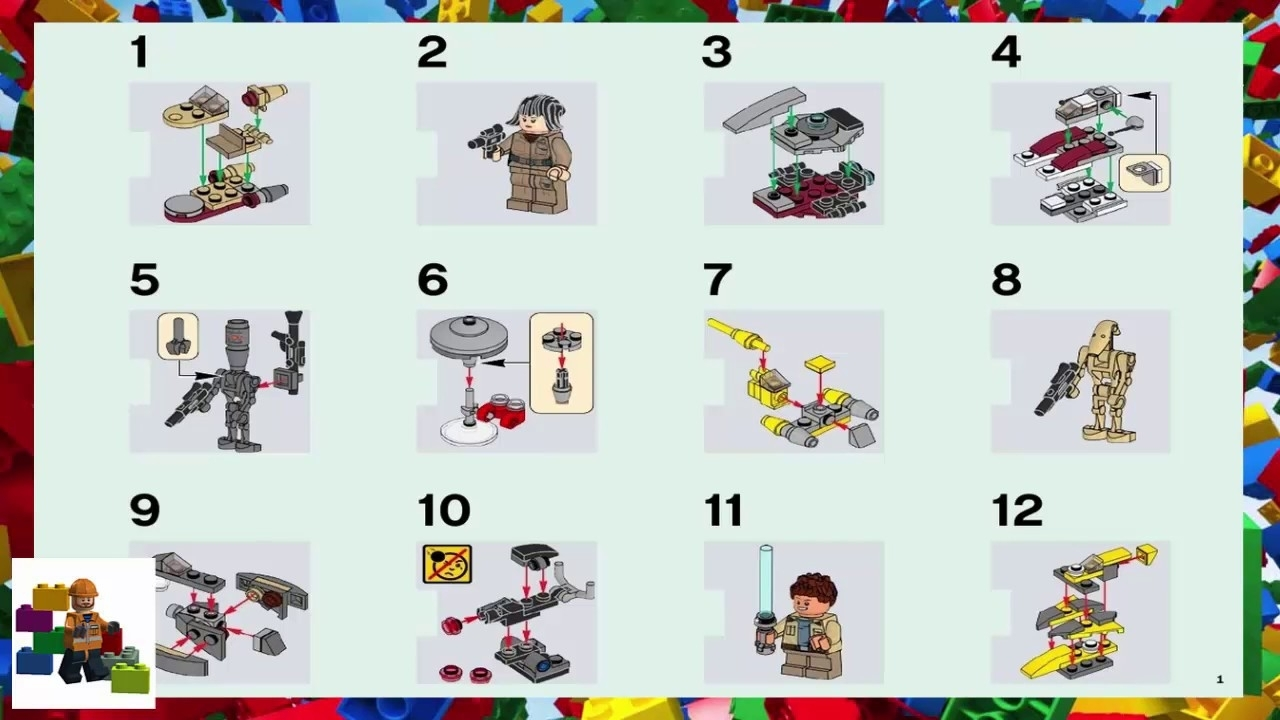 Lego Instructions - Seasonal - 75213 - Star Wars Advent Calendar within Lego Star Wars 2018 Advent Calendar Instructions