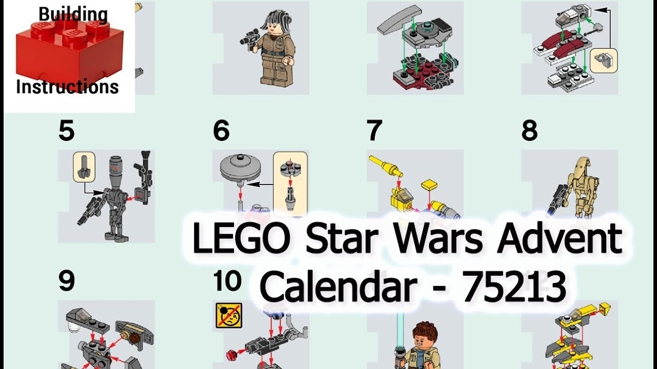 Lego Star Wars Advent Calendar - 75213 | Lego Star Wars | Lego  Video-Instructions throughout Lego Star Wars 2018 Advent Calendar Instructions