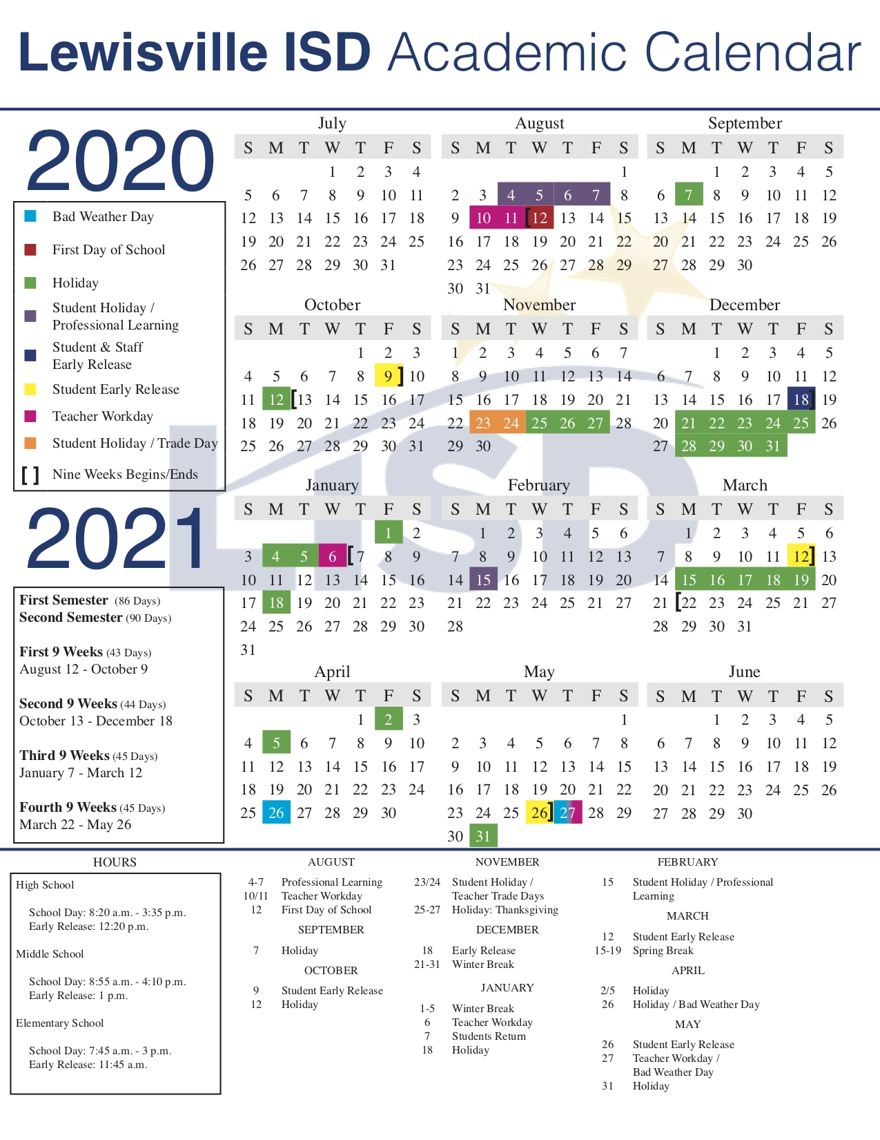 Lisd Approves 2020-21 Academic Calendar with regard to Stephen F Austin 2020-2021 Calendar