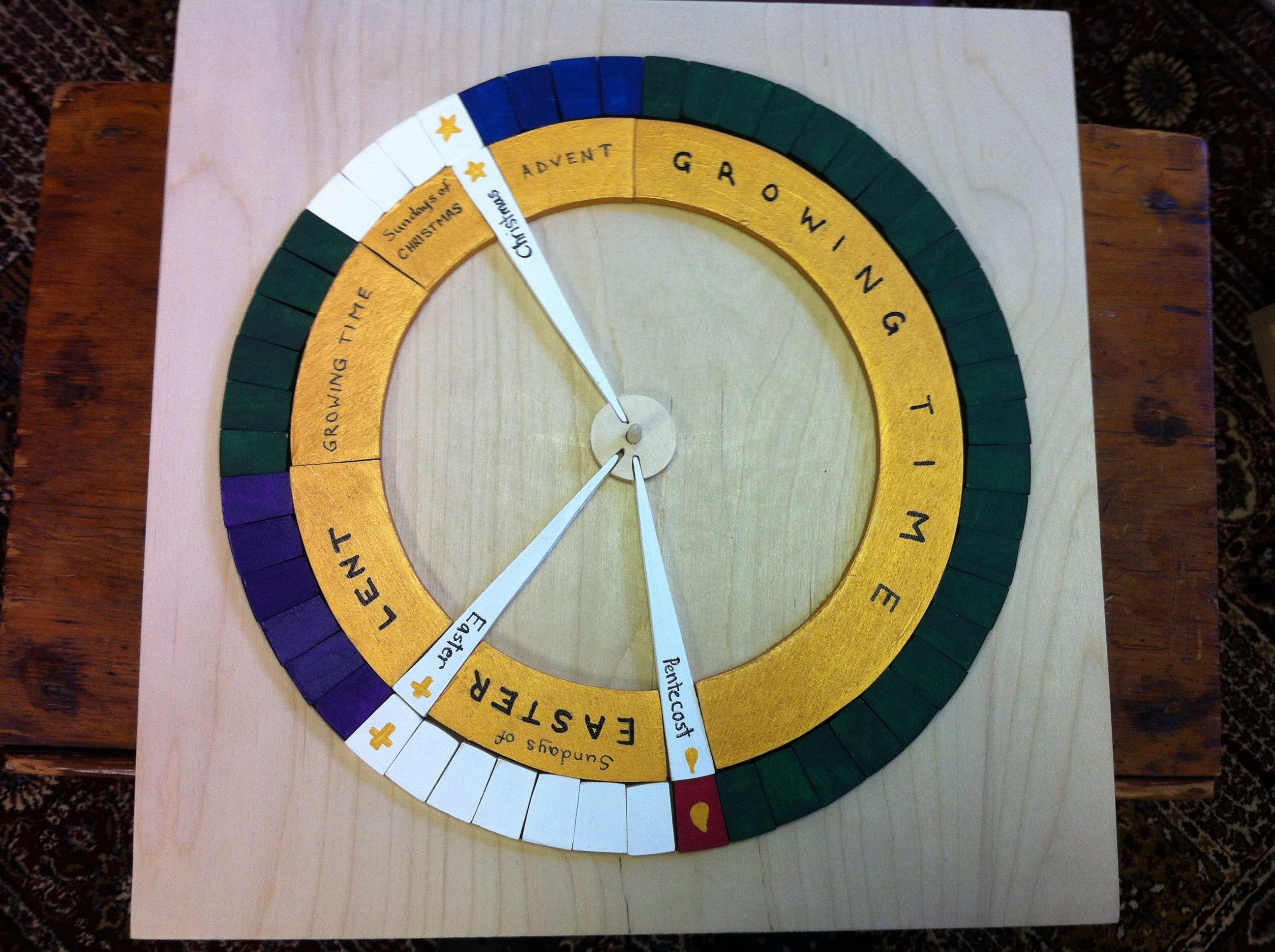 Liturgical Calendar Puzzle - Woodworkwoodworkers Of for Episcopal Liturgical Calendar For Children