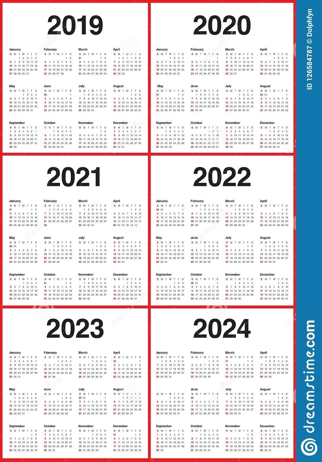 Lovely 3 Year Calendar 2022 To 2024 : Mini Calendar Template with regard to Printable Calendar 2020 2021 2022 2023