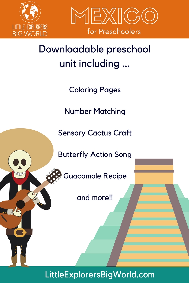 Mexico For Preschoolers - Free Preschool Mexico Unit in Where We Live Upk Unit