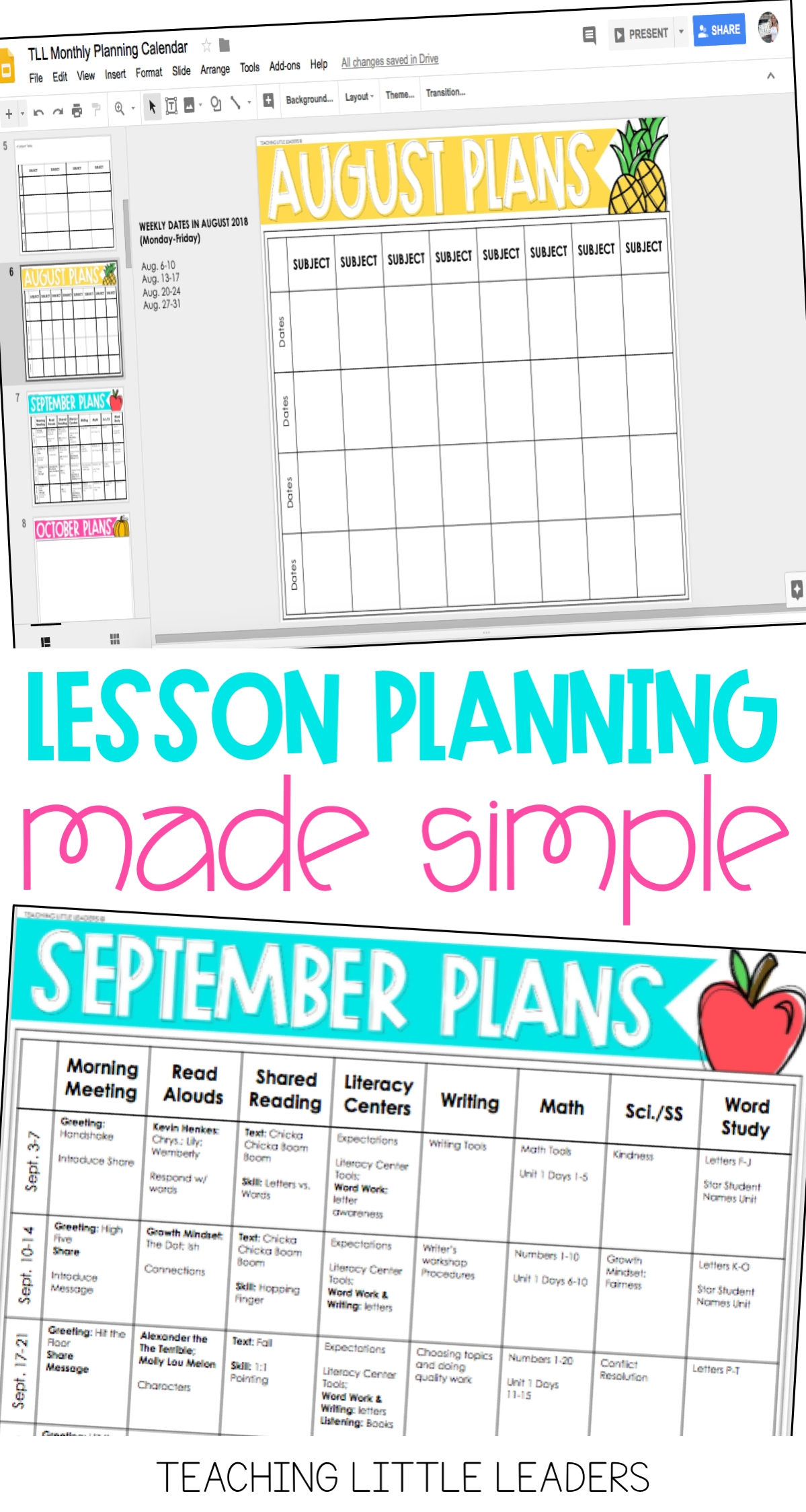 Monthly Planning Calendar Templates {Digital & Editable pertaining to Monthly Lesson Plan Calendar Template